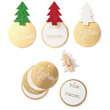 glitter trees clothespin christmas gift tags pack of 12 seals
