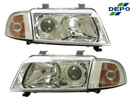 a4 1996 1998 chrome projector headlight audi a4