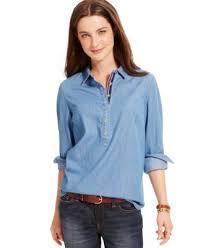popover blouse hilfiger denim popover shirt tops macy s