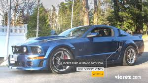 ford mustang scoops vicrez ford mustang 2005 2009 k spec style polyurethane side