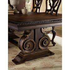 Wooden Carving Furniture Sofa Hooker Furniture 5091 75207 Adagio Rectangle Dining Table In Dark