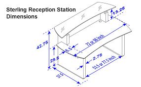 Standard Reception Desk Height Home Design Extraordinary Typical Reception Desk Height Standard