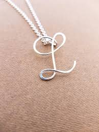 charm necklace letter images Sterling silver l initial necklace letter l necklace letter etsy jpg