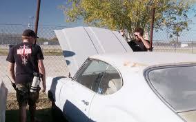 auto junkyard texas roadkill episode 11 junkyard cuda drag race in texas