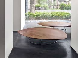 pebble outdoor coffee table walnut coffee table for living room pebble by ligne roset design