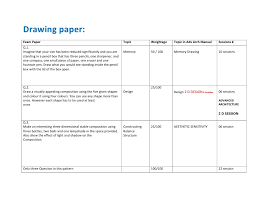 template for mapping architecture entrance exam paper pattern with ad u2026