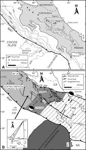 Black And White Map Of Central America by Neotectonic Faulting And Forearc Sliver Motion Along The Atirro
