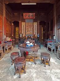 carved wood home interior decoration nanping anhui china stock