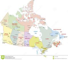 Canada Territories Map by Canada Administrative Map Stock Illustration Image 47487999