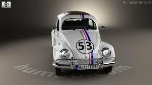 volkswagen beetle herbie 360 view of volkswagen beetle herbie the love bug 1963 3d model