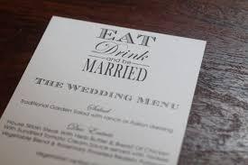 diy wedding menu cards diy printable wedding menu cards eat drink and be diy place card