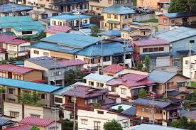 japanese town aerial view of japanese town stock photo image of residental flat