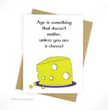 birthday card yellow cheese funny card boyfriend by misstandesigns