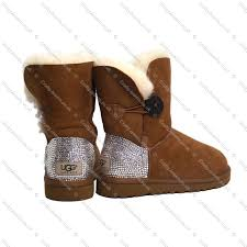 buy ugg boots uk bailey button customised ugg boots in chestnut