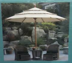11 Parasol Cantilever Umbrella Sunbrella Fabric by Amazon Com Sunbrella Wooden Market Umbrella 11 U0027 Tilt Patio Tan