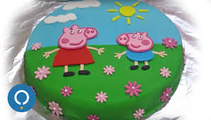 peppa pig cakes peppa pig birthday cake decorating with fondant