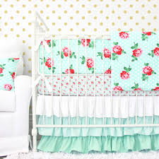 Mint Green Comforter Lucy U0027s Mint Rose Baby Bedding Nursery Baby Bedding And Vintage