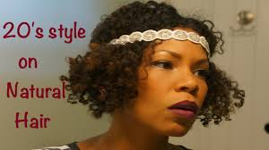 20 s hairstyles natural style on short hair the 20 s flapper girl youtube