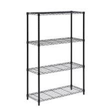 4 tier black metal shelving unit u2022 shelves