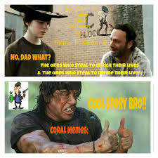 coral memes hey do u know the 2 different types of facebook