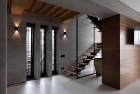 wood and concrete interior design ideas
