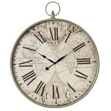 Grosse Pendule Murale by Horloge Murale Ovale Chiffre Romain Campagne Et Style