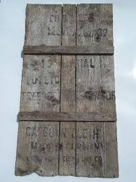 primitive vintage wall art sign rough barn wood boards w stencil