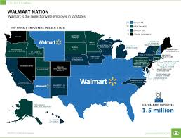 map us image walmart nation mapping the largest employers in the u s