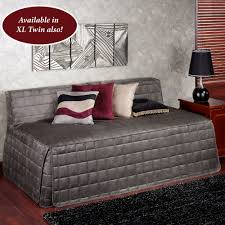 camden charcoal quilted hollywood daybed cover