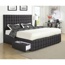 Black Upholstered Headboard Bedroom Black Fabric Upholstered Headboard Bed Frame Mixed With