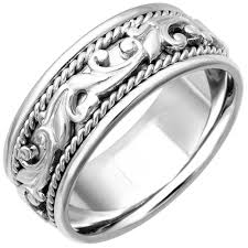 wedding ring depot 14k white gold paisley floral band 9mm 3000160 shop at wedding