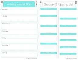 monthly day planner template 20 free menu planner printables fab n free free menu planner with grocery shopping list