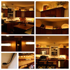 kitchen cabinet decorating ideas adding lights above and below the cabinets diy christmas lights