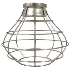 Wire Pendant Light Shop Portfolio 8 38 In H 8 38 In W Brushed Nickel Wire Industrial