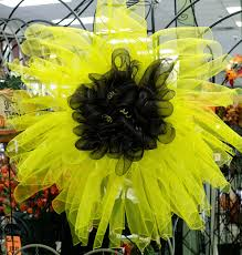 sunflower mesh wreath ben franklin crafts and frame shop wa diy sunflower deco