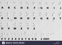 Alphabet Blind Shadows From Raised Dots On A Card With The Braille Alphabet The