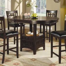 coaster 102888 lavon counter height storage dining table in