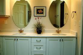 2 bathroom mirrors one light home
