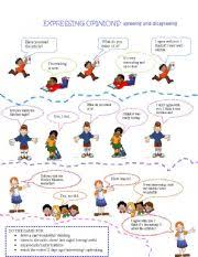 english worksheet expressing opinions vocabulary pinterest