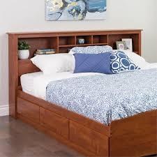 prepac edenvale king bookcase storage headboard cherry walmart com