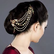 hair accessories online featuring this kundan and stones hair accessory in our wide
