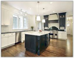 white kitchen black island black kitchen island white cabinets home design ideas
