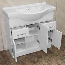 Eden Bathroom Furniture by Allbits Eden White Gloss 1050 Vanity Unit 185 99 At Allbits