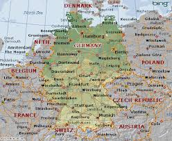 geographical map of germany geographical map of germany