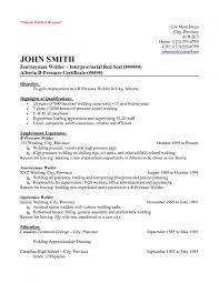 Canadian Resume Examples by Welder Resume Example Concession And Refreshment Resume Example