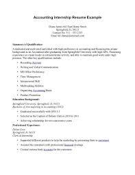 accountant cover letter doc finance internship resume resume for your job application