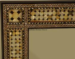moroccan middle eastern egyptian mother of pearl inlay wood wall
