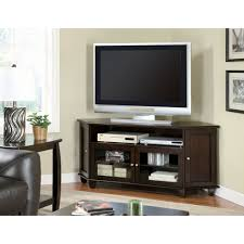 corner media cabinet 60 inch tv dark walnut veneer 60 inch corner tv console monarch specialties tv