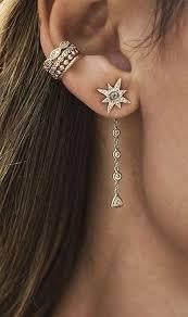 jacket earrings 108 best ear jacket earrings images on ear jacket ear