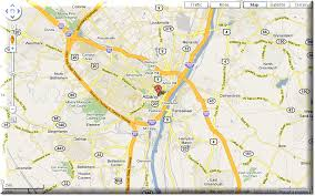 albany map map of albany travel map travelquaz com